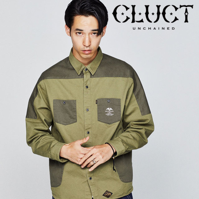 【SALE40%OFF】 CLUCT(クラクト) MILITARY PKT SHIRT 【2018HOLIDAY新作】 【ミリタリーシャツ】【#02896】
