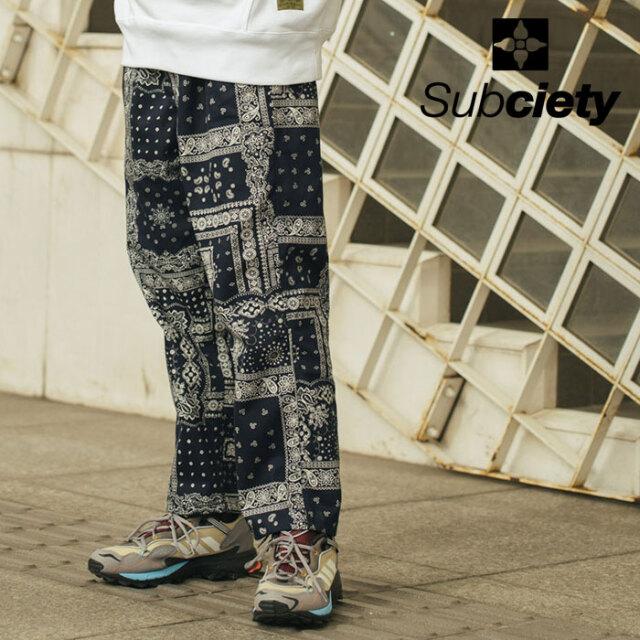 SUBCIETY(サブサエティ) PAISLEY SLACKS 【スラックス】【106-01653】【2021SPRING先行予約】【キャンセル不可】