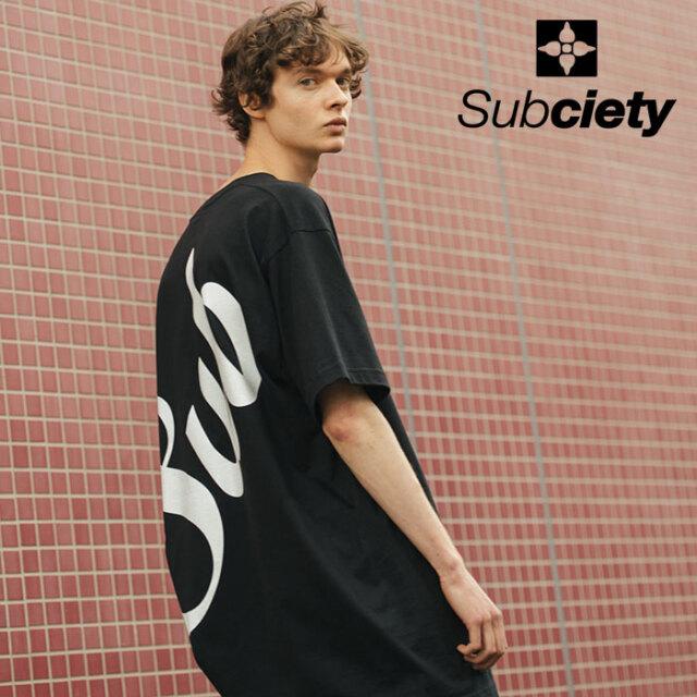 SUBCIETY(サブサエティ) HYPER BIG TEE -MIDDLE LOGO- 【ビッグTシャツ】【106-40650】【2021SPRING新作】