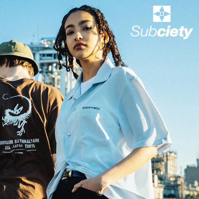 SUBCIETY(サブサエティ) OPEN COLLAR SHIRT 【シャツ 半袖】【107-22667】【2021SUMMER先行予約】【キャンセル不可】