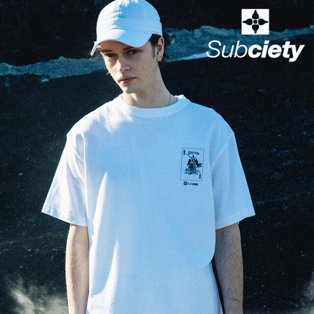 SUBCIETY(サブサエティ) PRAY CARD S/S 【Tシャツ 半袖】【107-40671】【2021SUMMER先行予約】【キャンセル不可】