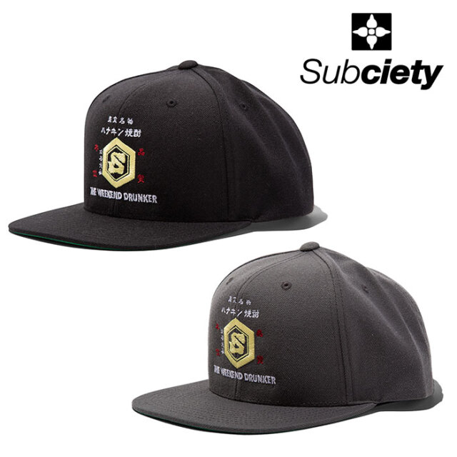 SUBCIETY(サブサエティ) SNAPBACK CAP-DRUNKER- 【キャップ】【107-86686】【2021SUMMER先行予約】【キャンセル不可】