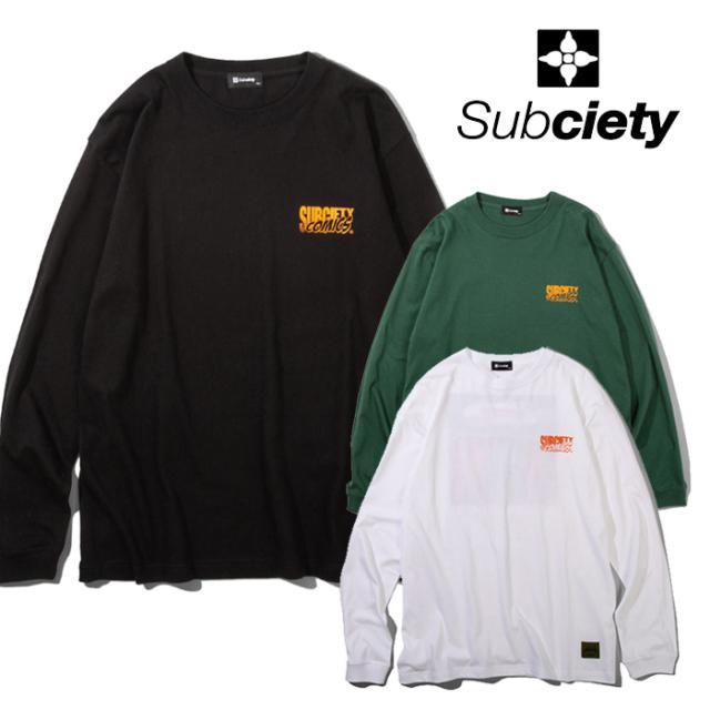 SUBCIETY(サブサエティ) Groupie L/S 【Tシャツ 長袖】【108-44721】【2021AUTUMN&WINTER先行予約】【キャンセル不可】