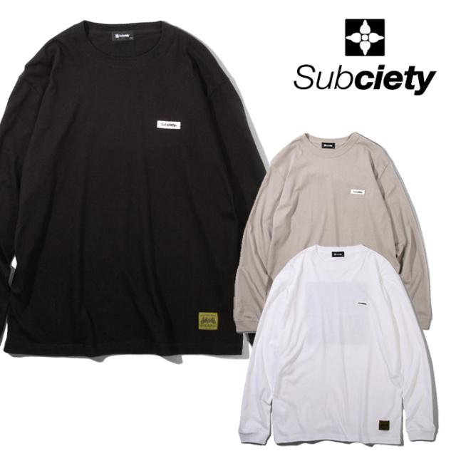 SUBCIETY(サブサエティ) Separation L/S 【Tシャツ 長袖】【108-44722】【2021AUTUMN&WINTER先行予約】【キャンセル不可】
