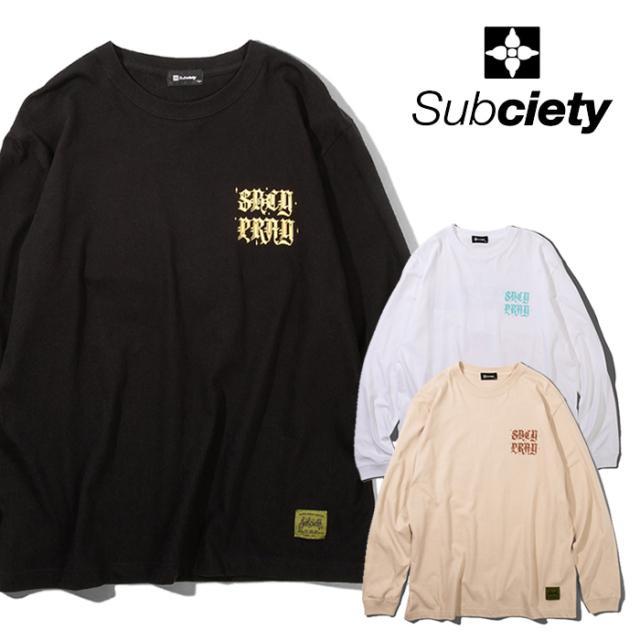 SUBCIETY(サブサエティ) COAST L/S 【Tシャツ 長袖】【108-44724】【2021AUTUMN&WINTER先行予約】【キャンセル不可】