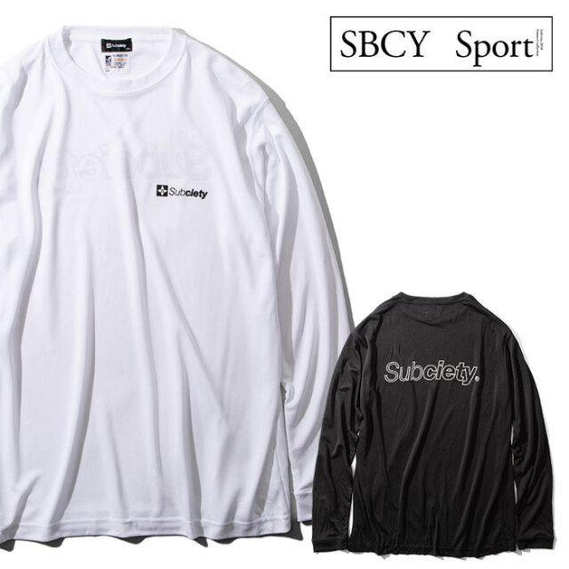 SUBCIETY SPORTS(サブサエティスポーツ) DRY TEE L/S-HOLLOW THE BASE- 【Tシャツ 長袖】【116-44046】【2021SPRING先行予約】【キ