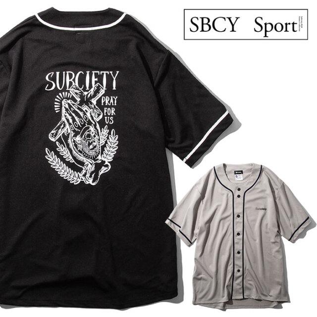 SUBCIETY SPORTS(サブサエティ スポーツ) DRY BASEBALL SHIRT-PRAYING HANDS- 【ベースボールTシャツ 半袖】【117-22051】【SBCY S