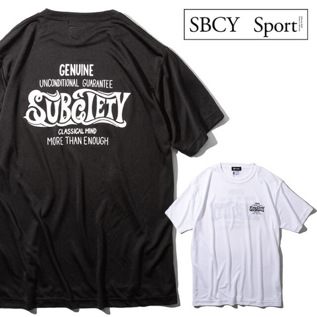 SUBCIETY SPORTS(サブサエティ スポーツ) DRY TEE S/S-CLASSICAL MIND- 【ドライTシャツ 半袖】【117-40050】【SBCY SPORT】【2021