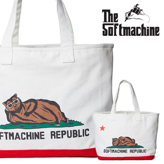 SOFTMACHINE(ソフトマシーン) CHILLIN' TOTE BAG (TOTE BAG) 【2019SUMMER VACATION】【即発送可能】【トートバッグ】