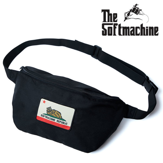 SOFTMACHINE(ソフトマシーン) CHILLIN' WEST BAG (SMALL SIZE WEST BAG) 【2019SUMMER VACATION新作】【ウエストバッグ】