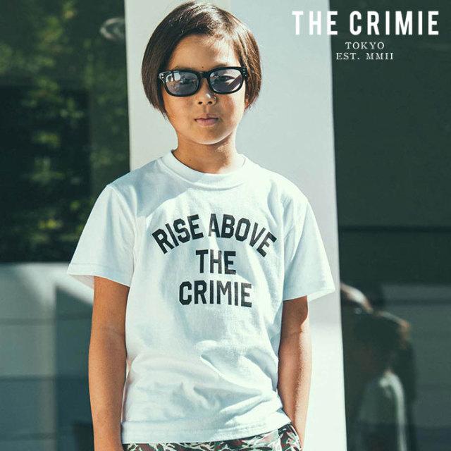CRIMIE(クライミー) KIDS RISE ABOVE T-SHIRT 【キッズTシャツ ロゴ 子供 おしゃれ】【ブラック ホワイト グレー アメカジ ミリタ