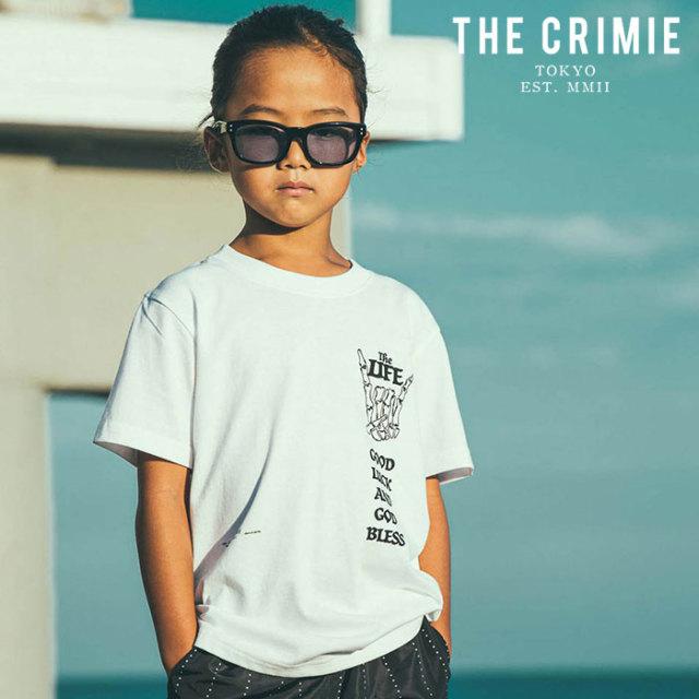 CRIMIE(クライミー) KIDS MARIA T-SHIRT 【キッズTシャツ ロゴ 子供 おしゃれ】【ブラック ホワイト グレー アメカジ ミリタリー】