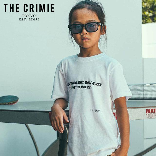 CRIMIE(クライミー) KIDS MESSAGE T-SHIRT 【キッズTシャツ ロゴ 子供 おしゃれ】【ブラック ホワイト グレー アメカジ ミリタリー