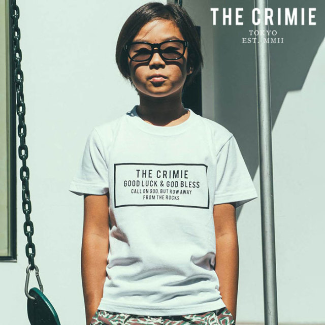 CRIMIE(クライミー) KIDS BOX LOGO T-SHIRT 【キッズTシャツ ロゴ 子供 おしゃれ】【ブラック ホワイト アメカジ ミリタリー】【CR