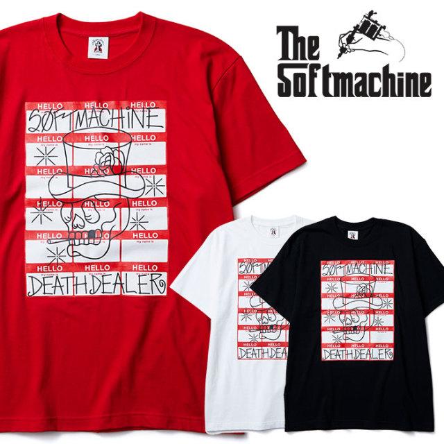 SOFTMACHINE(ソフトマシーン) DEATH DEALER-T(T-SHIRTS) 【2019SUMMER VACATION先行予約】【キャンセル不可】【Tシャツ】