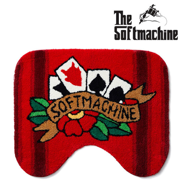SOFTMACHINE(ソフトマシーン) FOUR CARDS TOILET RUG(TOILET RUG) 【2019SUMMER VACATION先行予約】【キャンセル不可】【ラグ】