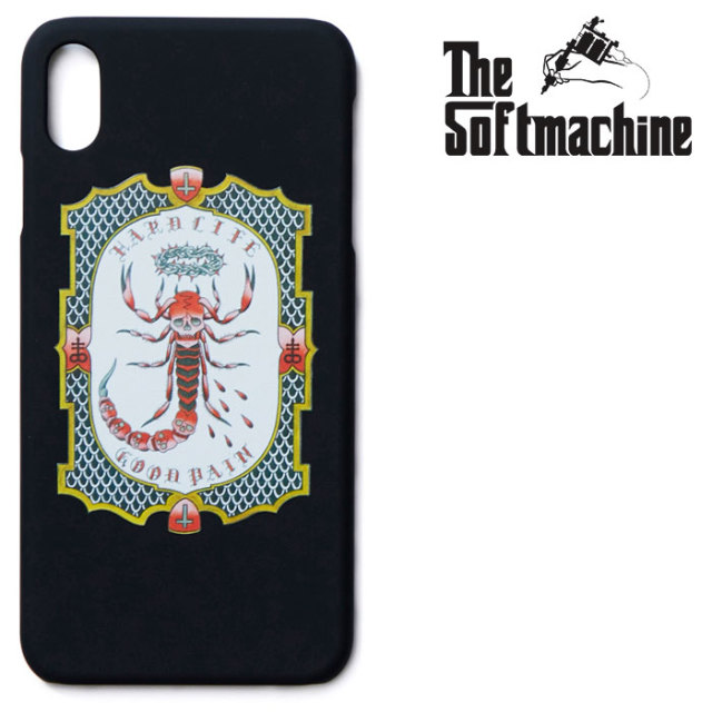SOFTMACHINE(ソフトマシーン) GOOD PAIN SCORPION iPhone CASE(iPhone 7&8 Plus,X,XR,XS,XS MAX) 【2019SUMMER VACATION新作】【iP