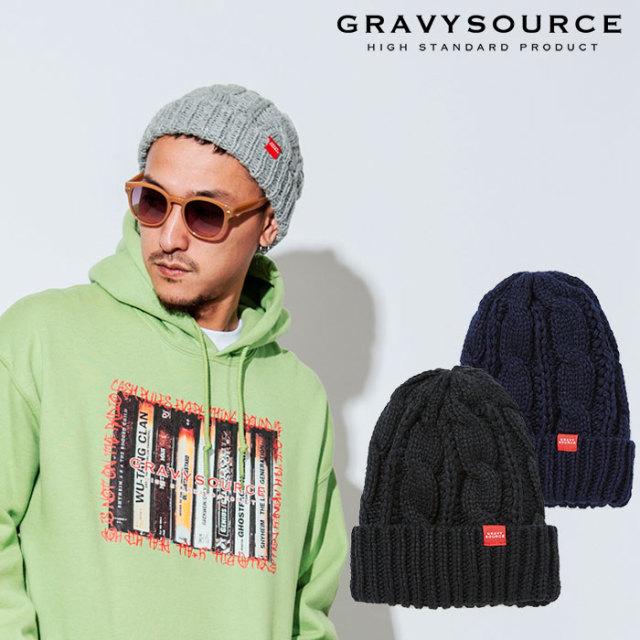 GRAVYSOURCE(グレイヴィーソース) BOA KNIT CAP 【2018AUTUMN/WINTER先行予約】 【キャンセル不可】【GS18-ACP04】