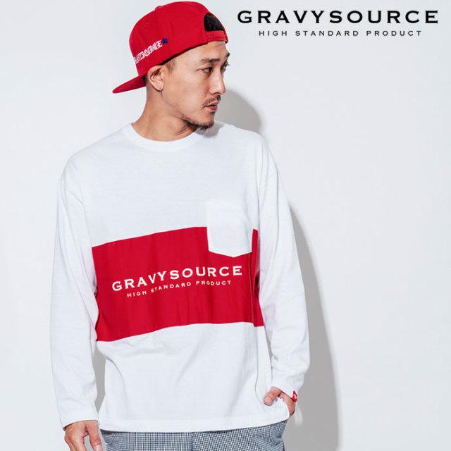 GRAVYSOURCE(グレイヴィーソース) SWITCH L/S TEE 【2018AUTUMN/WINTER先行予約】 【キャンセル不可】【GS18-ACS02】