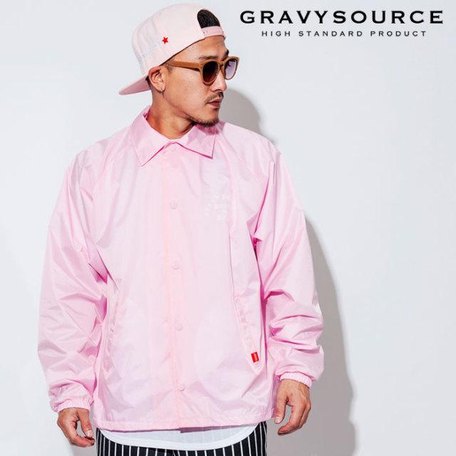 GRAVYSOURCE(グレイヴィーソース) TYPO COACH JACKET 【2018AUTUMN/WINTER先行予約】 【キャンセル不可】【GS18-AJK02】