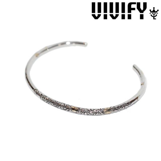 VIVIFY(ヴィヴィファイ)(ビビファイ) Arabesque Bangle w/gold(3mmbody) 【オーダーメイド 受注生産】 【キャンセル不可】 【V