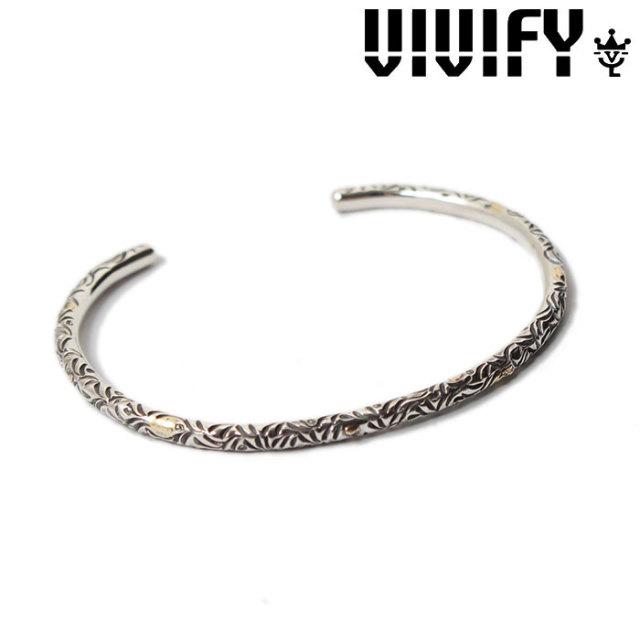 VIVIFY(ヴィヴィファイ)(ビビファイ) Full Arabesque Bangle w/gold(3mmbody) 【オーダーメイド 受注生産】 【キャンセル不可