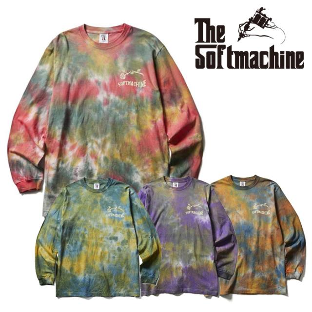 SOFTMACHINE(ソフトマシーン) ASDC L/S(TIE DYE L/S T-SHIRTS) 【Tシャツ 長袖】【レッド ブルー パープル タトゥー】【2021 SUMME