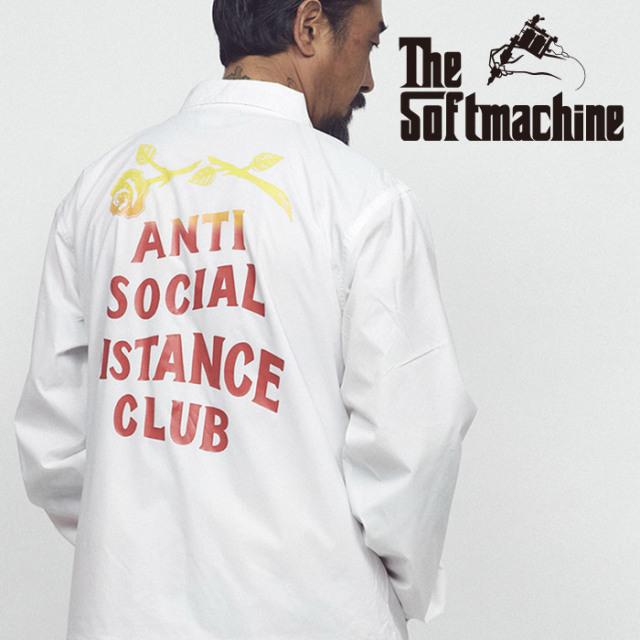 SOFTMACHINE(ソフトマシーン) ASDC JK(COARCH JACKET) 【コーチジャケット】【ホワイト ブラック タトゥー】【2021 SUMMERVACATION