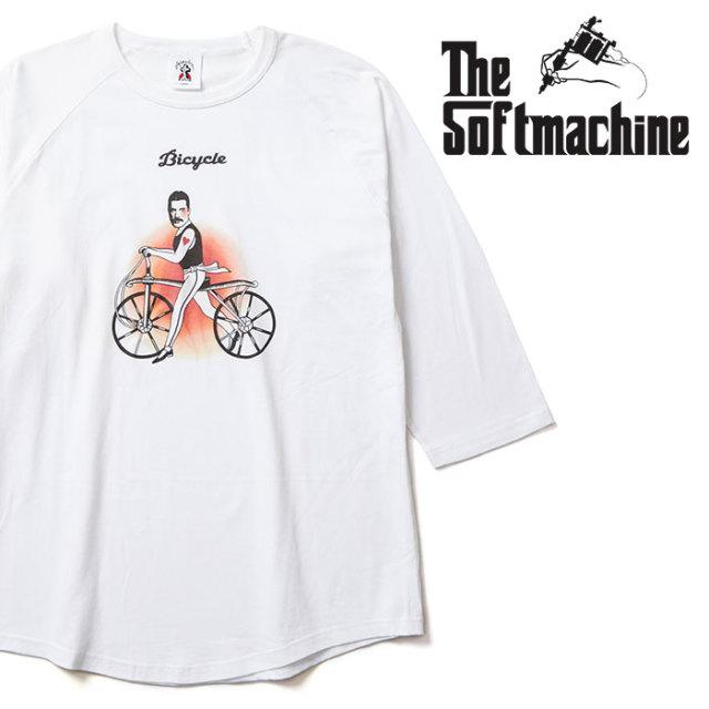 SOFTMACHINE(ソフトマシーン) BICYCLE-RT 【ラグランTシャツ】【ホワイト タトゥー】【2020SPRING&SUMMER先行予約】【キャンセル不
