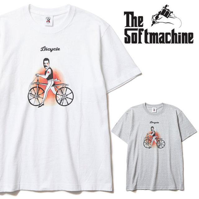SOFTMACHINE(ソフトマシーン) BICYCLE-T 【Tシャツ】【ホワイト グレー タトゥー】【2020SPRING&SUMMER先行予約】【キャンセル不可