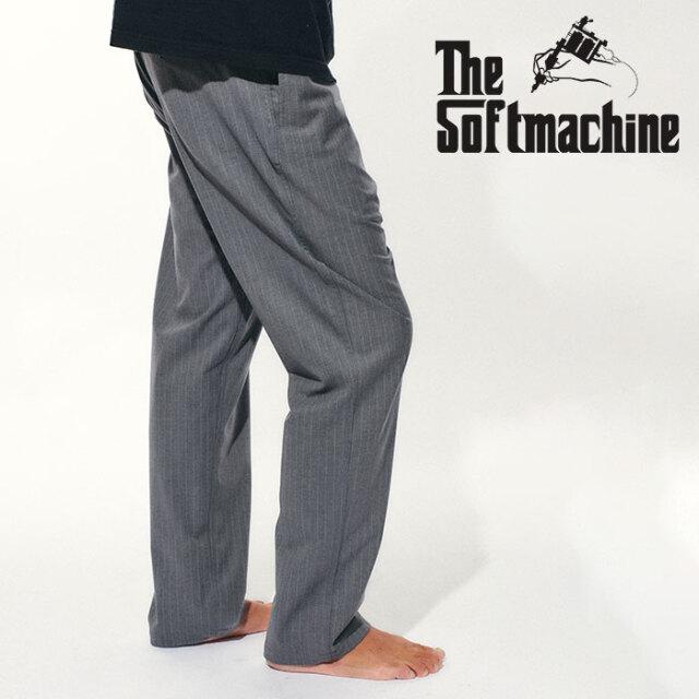 SOFTMACHINE(ソフトマシーン) BIVOUAC STRIPE PANTS(CLIMBING PANTS) 【クライミング パンツ】【グレー ブラック ストライプ タト