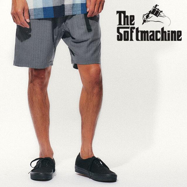 SOFTMACHINE(ソフトマシーン) BIVOUAC STRIPE SHORTS(CLIMBING SHORT PANTS) 【クライミング ショートパンツ 短パン】【グレー ブ