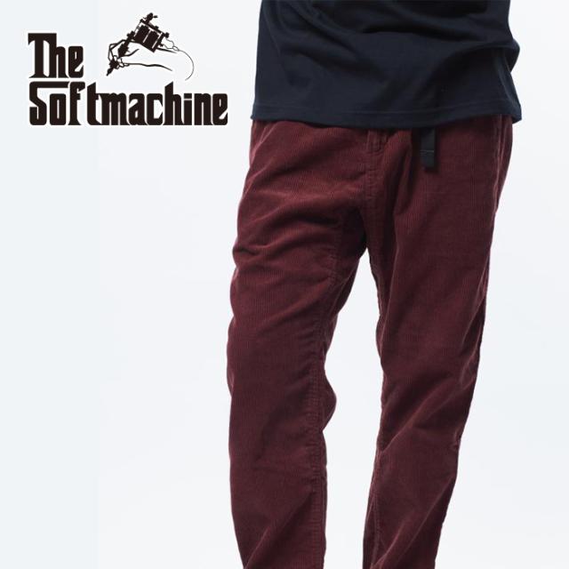 SOFTMACHINE(ソフトマシーン) BIVOUAC CORD PANTS 【コーデュロイパンツ】【ブラック バーガンディー タトゥー】【2021 AUTUMN&WI