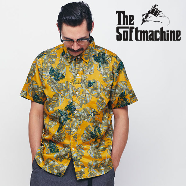 SOFTMACHINE(ソフトマシーン) BLACK MOTH SHIRTS S/S 【ショートスリーブシャツ】【イエロー タトゥー】【送料無料】 【2020SPRIN