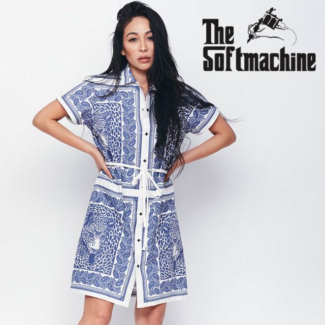 SOFTMACHINE(ソフトマシーン) BLEND BANDANA DRESS(WOMEN'S) 【ワンピース】【ネイビー レッド タトゥー】【送料無料】 【2020SPR