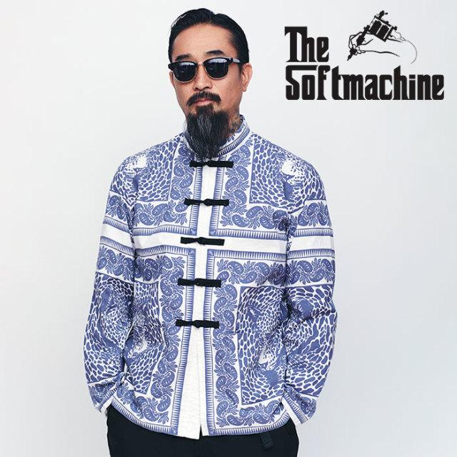 SOFTMACHINE(ソフトマシーン) BLEND BANDANA MAO JK 【マオジャケット】【ネイビー レッド タトゥー】【送料無料】【2020SPRING&SU