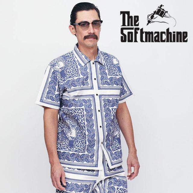 SOFTMACHINE(ソフトマシーン) BLEND BANDANA SHIRTS S/S 【ショートスリーブシャツ】【ネイビー レッド タトゥー】【送料無料】