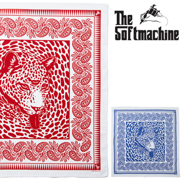 SOFTMACHINE(ソフトマシーン)   BLEND BANDANA 【バンダナ】【ネイビー レッド タトゥー】【送料無料】 【2020SPRING&SUMMER先行