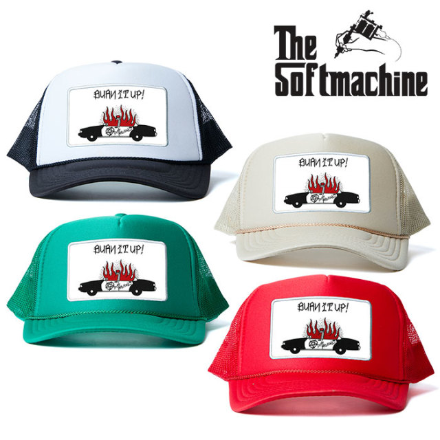 SOFTMACHINE(ソフトマシーン) BURN UP MESH CAP 【メッシュキャップ】【ブラック タトゥー】 【2020SPRING&SUMMER新作】