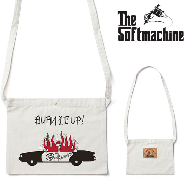 SOFTMACHINE(ソフトマシーン) BURN UP SACOCHE 【サコシュ】【ホワイト タトゥー】 【2020SPRING&SUMMER先行予約】【キャンセル不