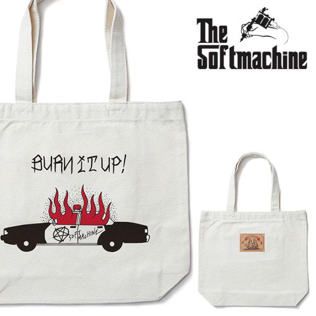 SOFTMACHINE(ソフトマシーン) BURN UP TOTE 【トートバッグ】【ホワイト タトゥー】 【2020SPRING&SUMMER先行予約】【キャンセル