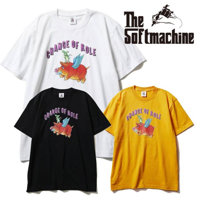 SOFTMACHINE(ソフトマシーン) CHANGE-T(T-SHIRTS) 【Tシャツ 半袖】【ブラック ホワイト イエロー タトゥー】【2021 SUMMERVACATIO