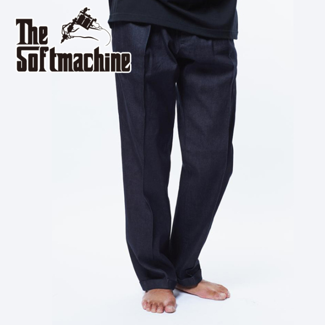 SOFTMACHINE(ソフトマシーン) CHAVEZ DENIM 【スラックス パンツ】【ブラック デニム タトゥー】【2021 AUTUMN&WINTER 先行予約】