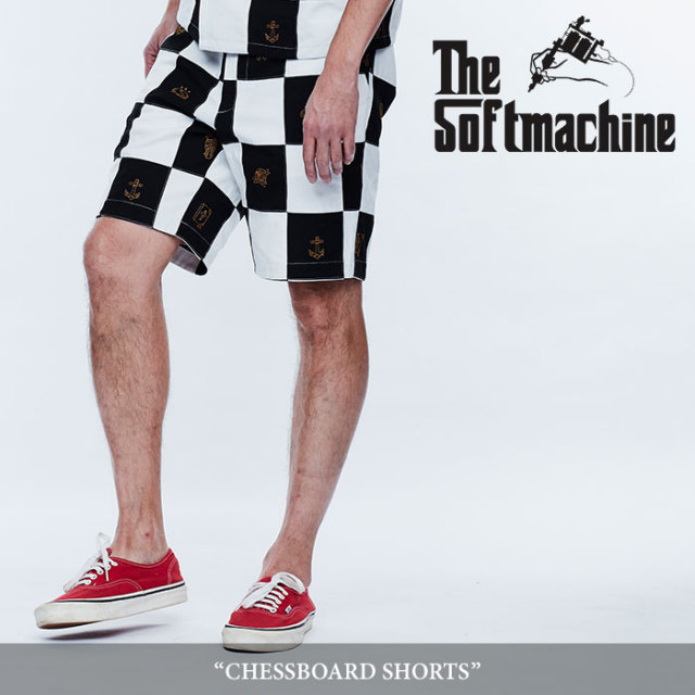 SOFTMACHINE(ソフトマシーン) CHESSBOARD SHORTS(PATCH WORK SHORT PANTS) 【2018SPRING/SUMMER先行予約】 【キャンセル不可】【