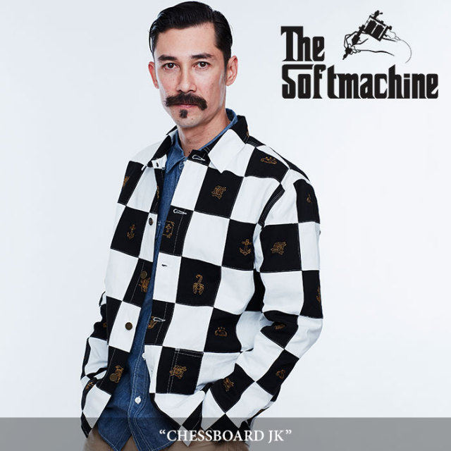 SOFTMACHINE(ソフトマシーン) CHESSBOARD JK(PATCH WORK COVERALL JACKET) 【2018SPRING/SUMMER先行予約】 【キャンセル不可】【