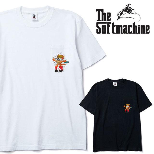 SOFTMACHINE(ソフトマシーン) CHICANO THE CAT-T 【Tシャツ】【ホワイト ブラック タトゥー】【2020SPRING&SUMMER先行予約】【キャ