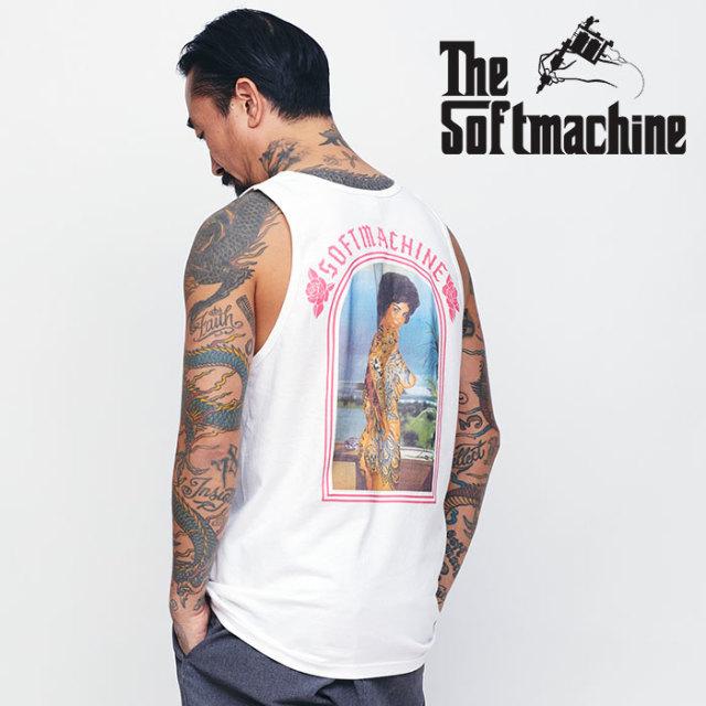 SOFTMACHINE(ソフトマシーン) CHOLA TANK 【タンクトップ】【ホワイト ブラック タトゥー】【2020SPRING&SUMMER先行予約】【キャン