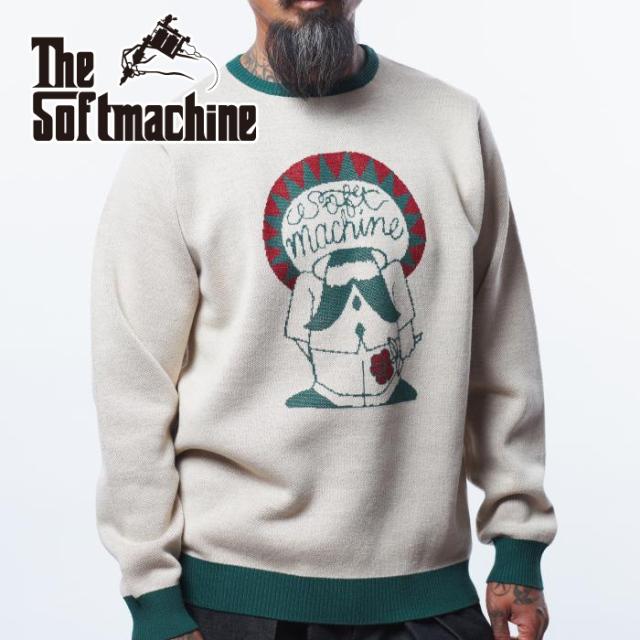 SOFTMACHINE(ソフトマシーン) CHOLO SWEATER 【セーター】【ベージュ マスタード タトゥー】【2021 AUTUMN&WINTER 先行予約】【キ