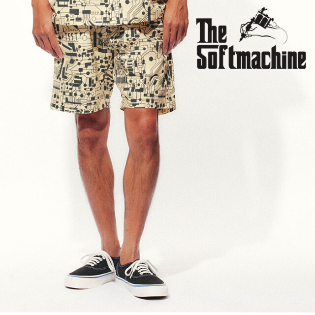 SOFTMACHINE(ソフトマシーン) CIRCUIT SHORTS(EASY SHORTS) 【イージーショーツ 短パン】【ホワイト タトゥー】【2021 SPRING&SUMM