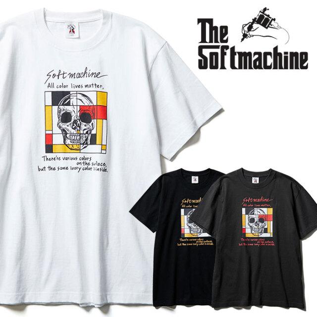 SOFTMACHINE(ソフトマシーン) COLORS-T 【Tシャツ 半袖】【ブラック ホワイト チャコール タトゥー】【2021 SPRING&SUMMER先行予約
